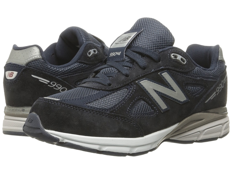 New Balance Kids - 990v4 (Big Kid) (Navy/Navy) Boys Shoes