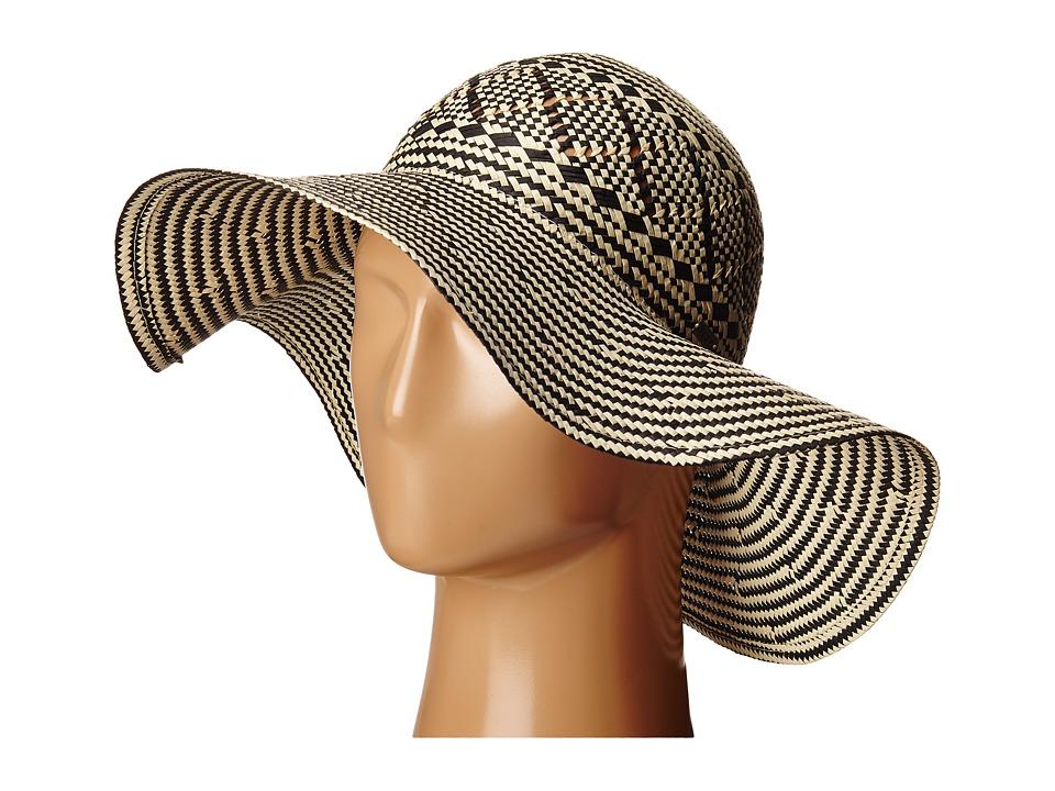 Roxy Just Lucky Sun Hat True Black Fedora Hats