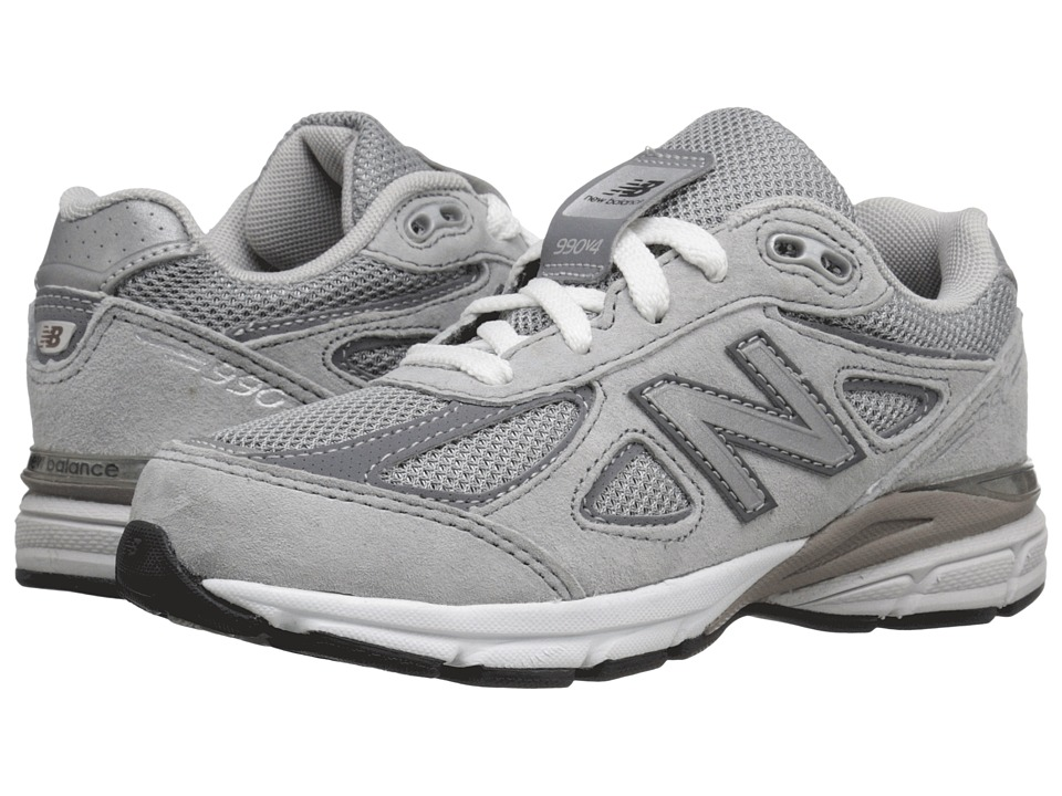 New Balance Kids KJ990v4 (Little Kid) (Grey/Grey) Boys Shoes