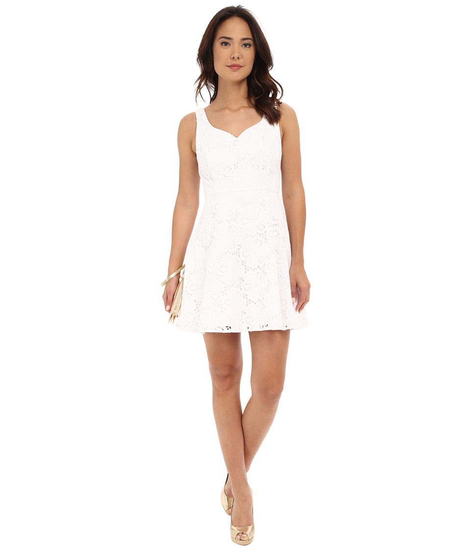Lilly Pulitzer Marla Dress Resort White Dotted Blossom Womens Dress
