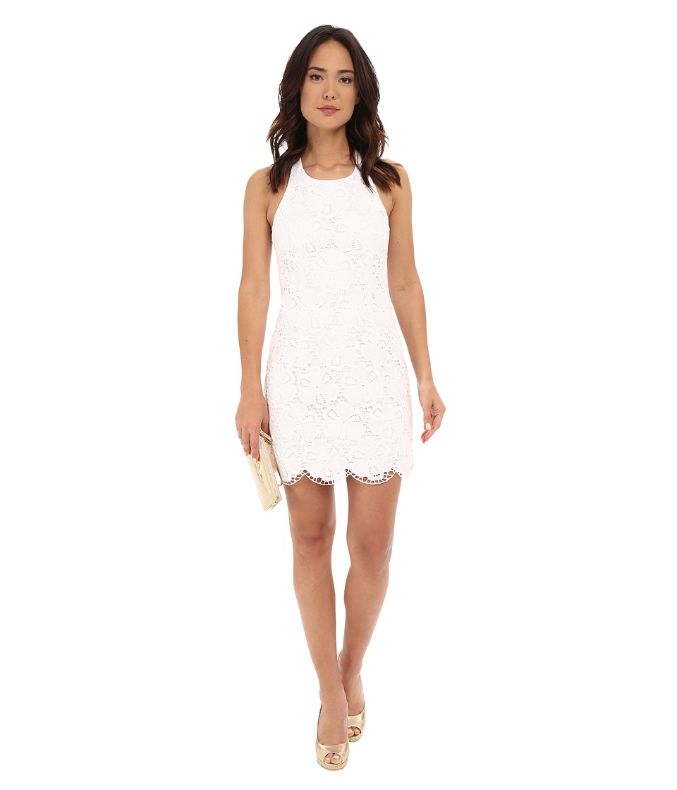 Lilly Pulitzer Grayes Shift Dress Resort White Dotted Blossom Womens Dress