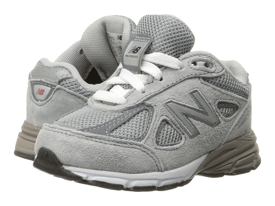 New Balance Kids KJ990v4 (Infant/Toddler) (Grey/Grey) Boys Shoes