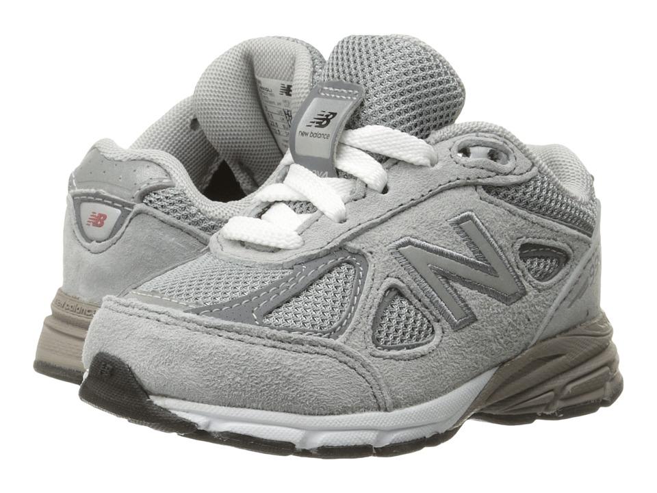 New Balance Kids - KJ990v4 (Infant/Toddler) (Grey/Grey) Boys Shoes