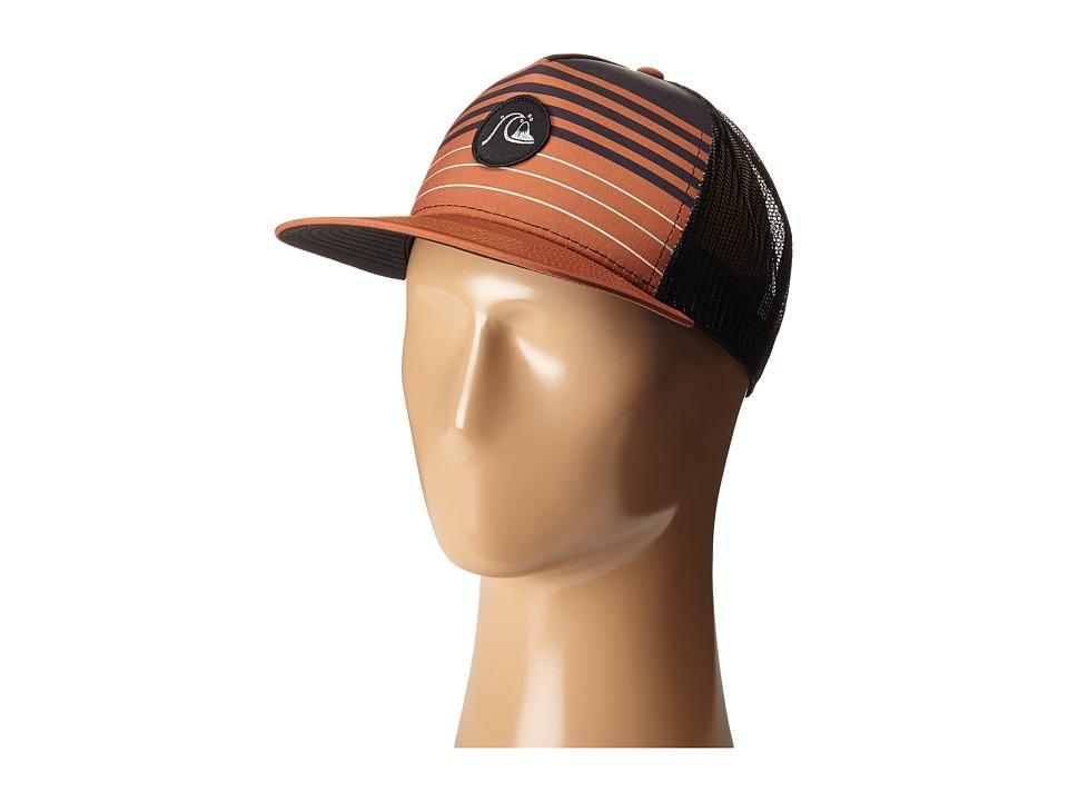 Quiksilver Swelly Trucker Hat Pumpkin Spice Caps
