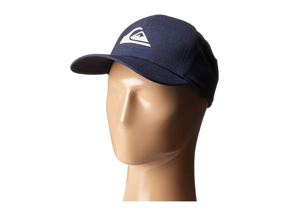 Quiksilver AG47 M W Bonded Amphibian Hat Navy Blazer/Red Baseball Caps