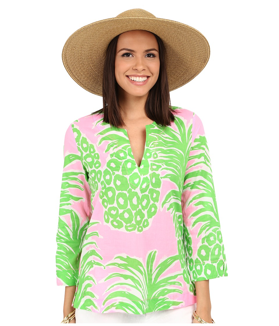 Lilly Pulitzer Amelia Island Tunic Pink Pout Flamenco Womens Blouse
