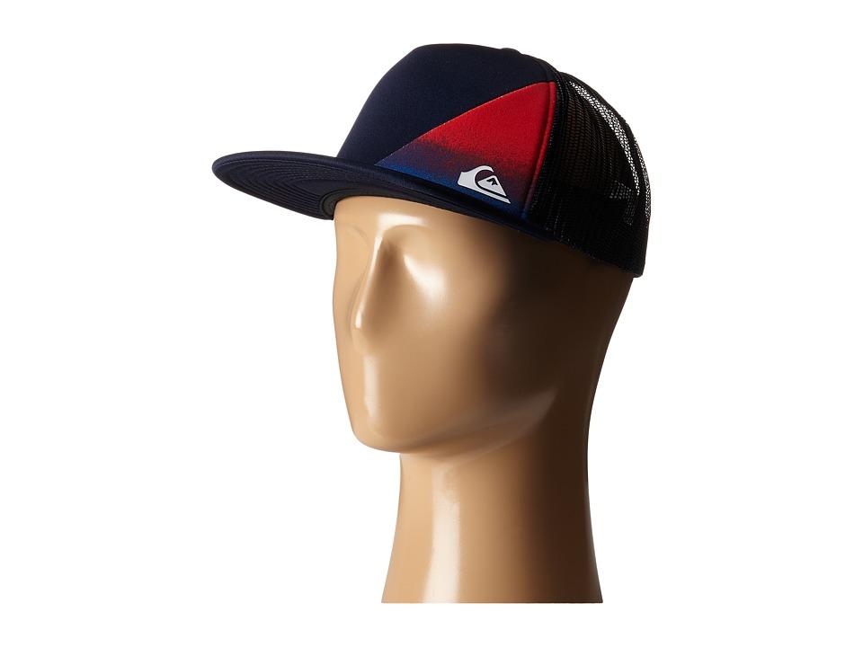 Quiksilver AG47 New Wave Trucker Hat Quik Red Caps