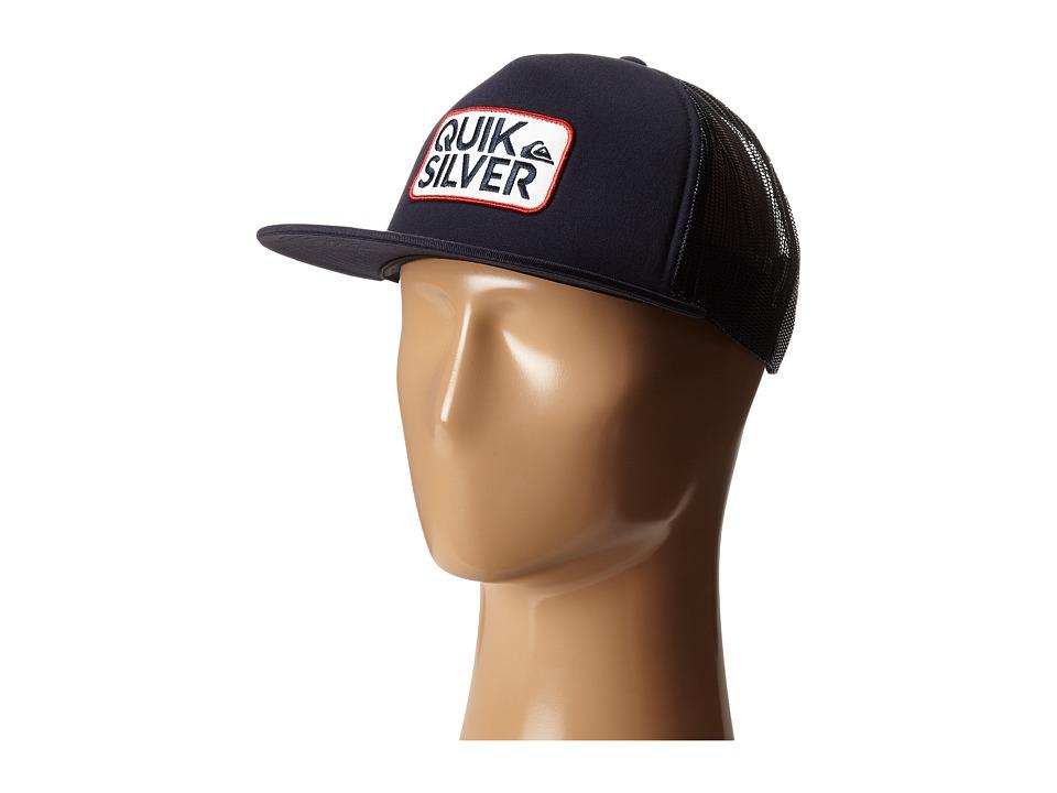 Quiksilver Barstay Trucker Hat Navy Blazer Caps