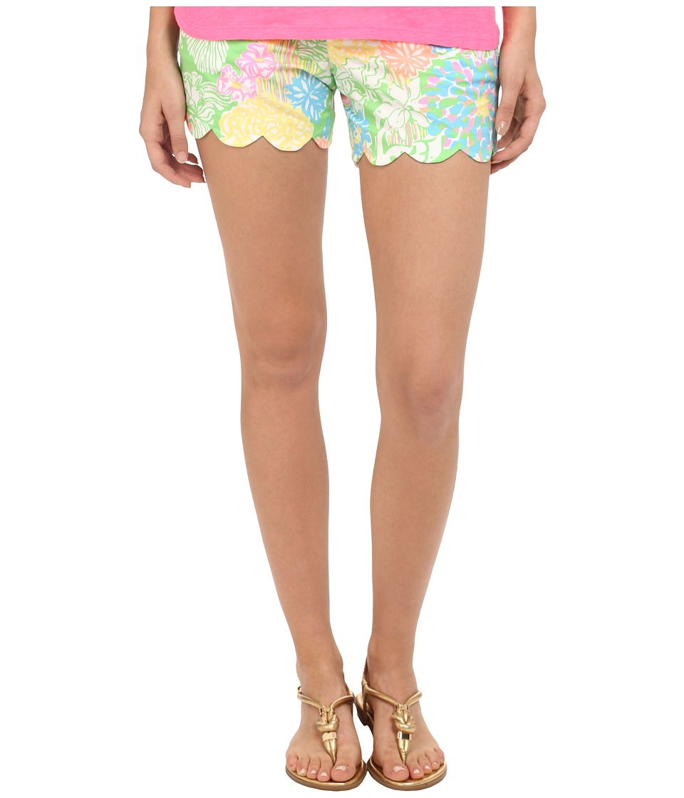 Lilly Pulitzer Buttercup Shorts Multi Hibiscus Stroll Womens Shorts