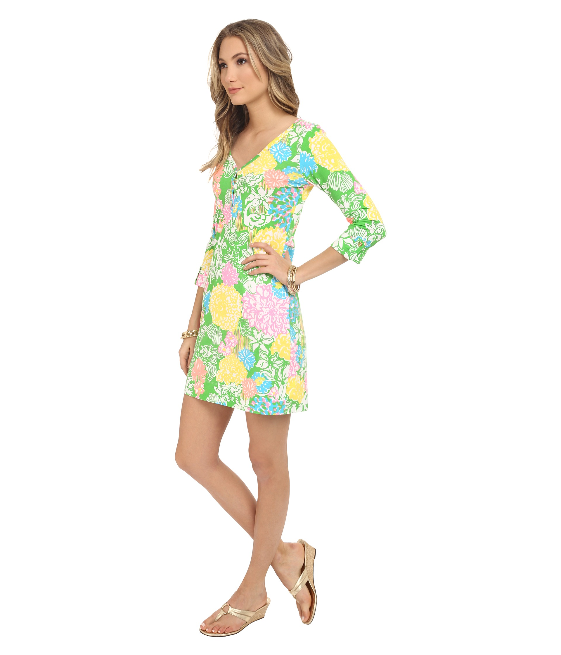 Lilly Pulitzer Palmetto Dress Multi Hibiscus Stroll