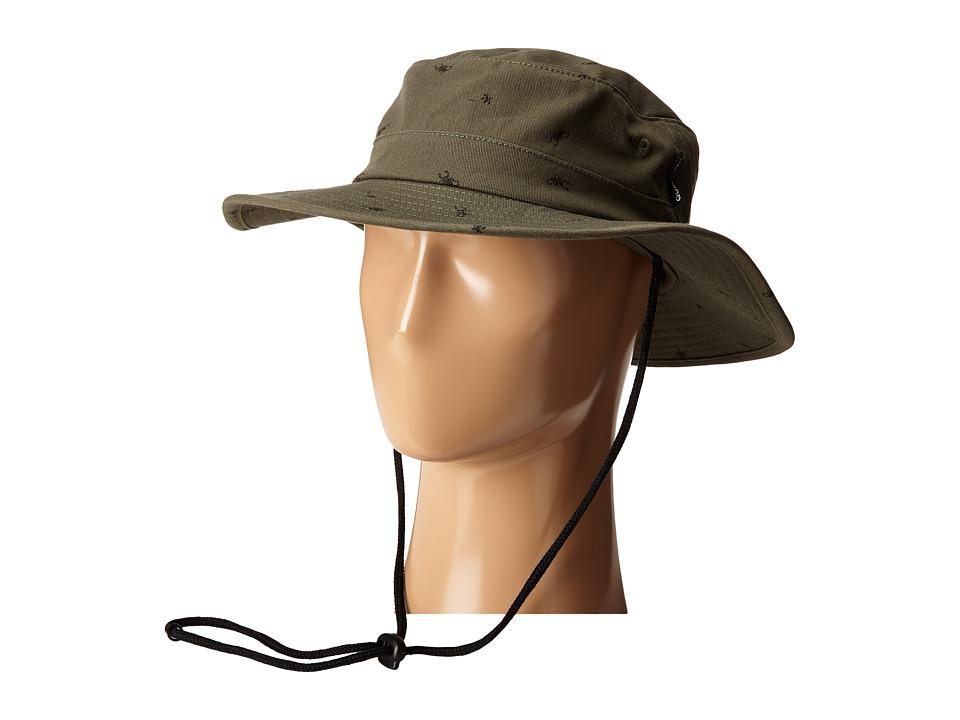 Quiksilver Commotion Bucket Cap Bronze Green Bucket Caps