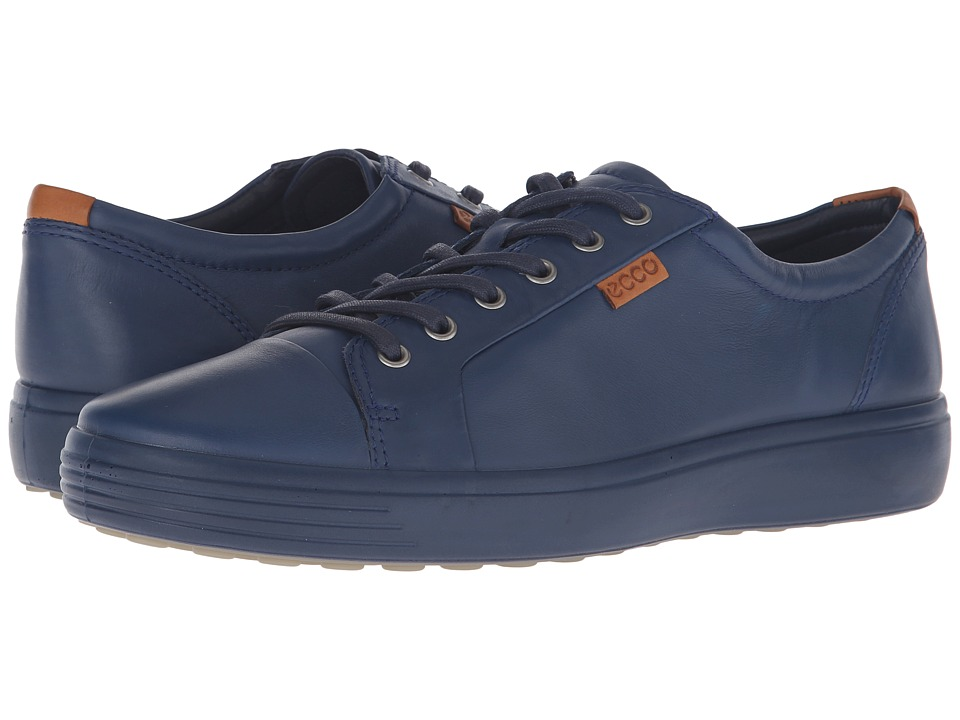 ECCO Soft VII Sneaker (True Navy/True Navy) Men