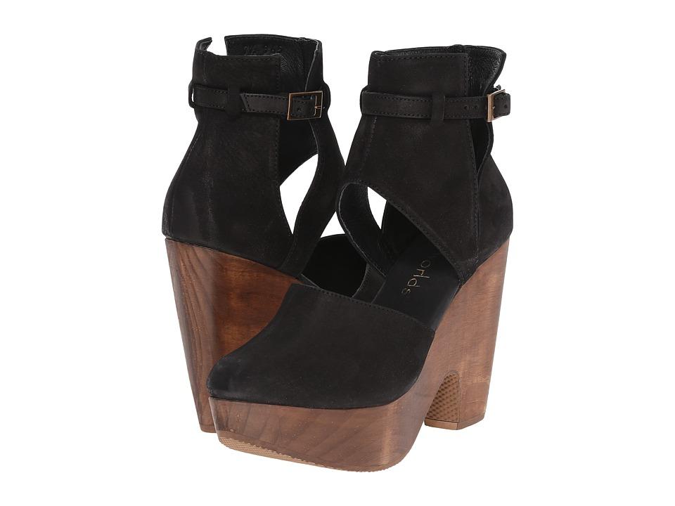 Cordani Carmen Black Nubuck High Heels
