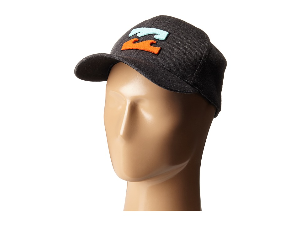 Billabong All Day Heather Flexfit Hat Black Heather Caps