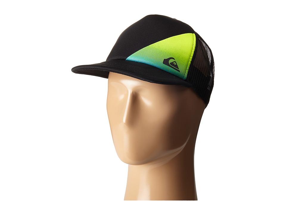 Quiksilver AG47 New Wave Trucker Hat Big Kid Black Caps