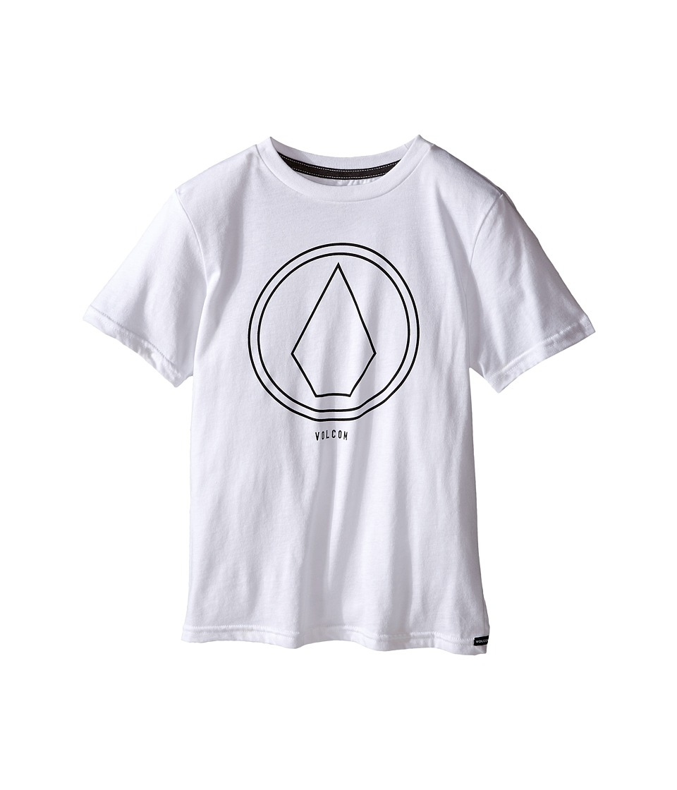Volcom Kids - Pin Line Stone Short Sleeve Shirt (Big Kids) (White Heather) Boy