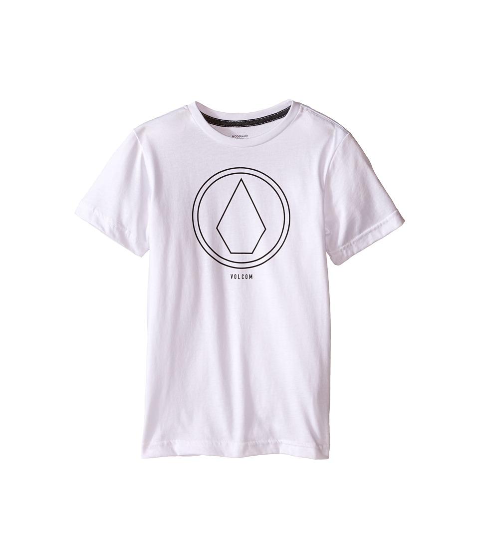 Volcom Kids Pin Line Stone Short Sleeve Shirt Toddler/Little Kids White Heather Boys T Shirt