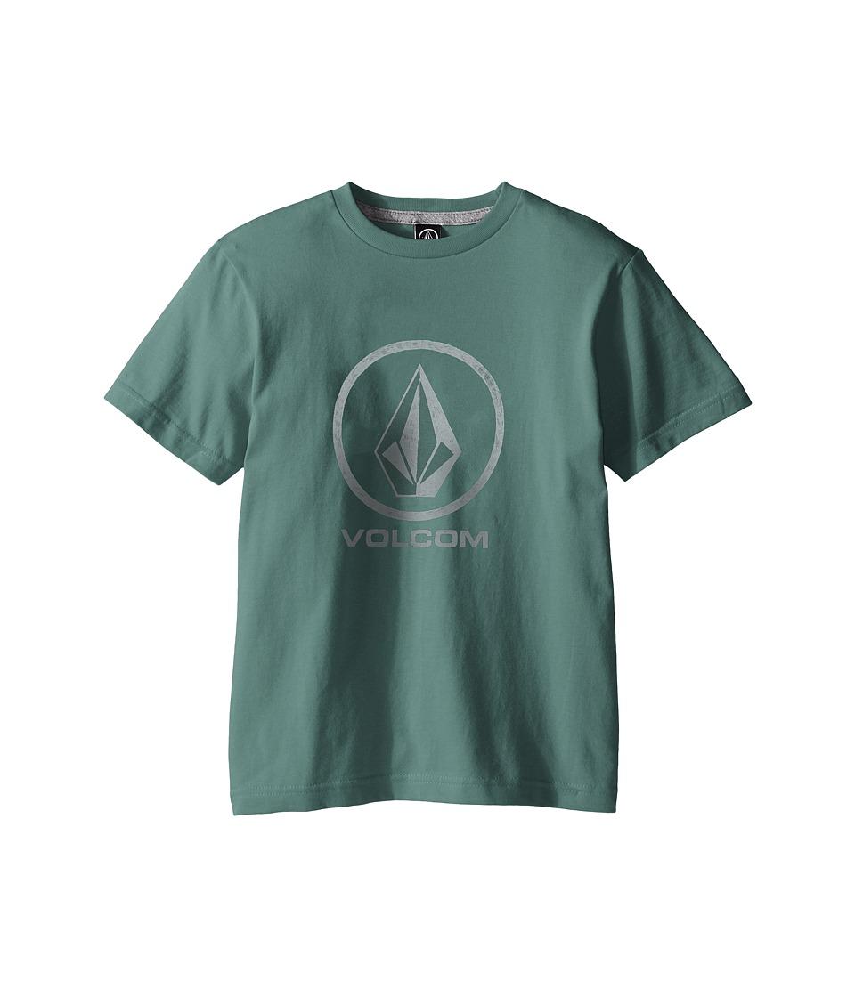 Volcom Kids Fade Stone Short Sleeve Shirt Big Kids Forest Boys T Shirt