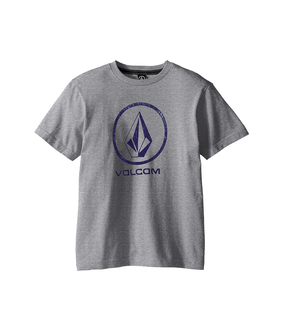 Volcom Kids - Fade Stone Short Sleeve Shirt (Big Kids) (Heather Grey) Boy