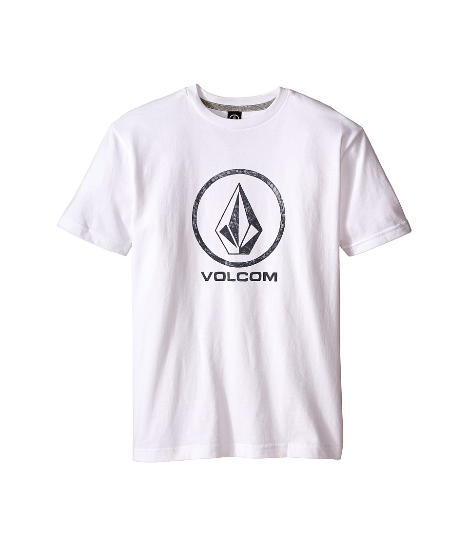 Volcom Kids - Fade Stone Short Sleeve Shirt (Big Kids) (White) Boy
