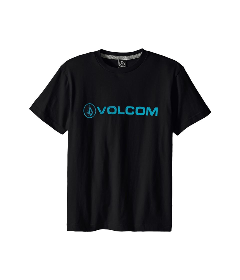 Volcom Kids Euro Pencil Short Sleeve Shirt Big Kids Black Boys T Shirt