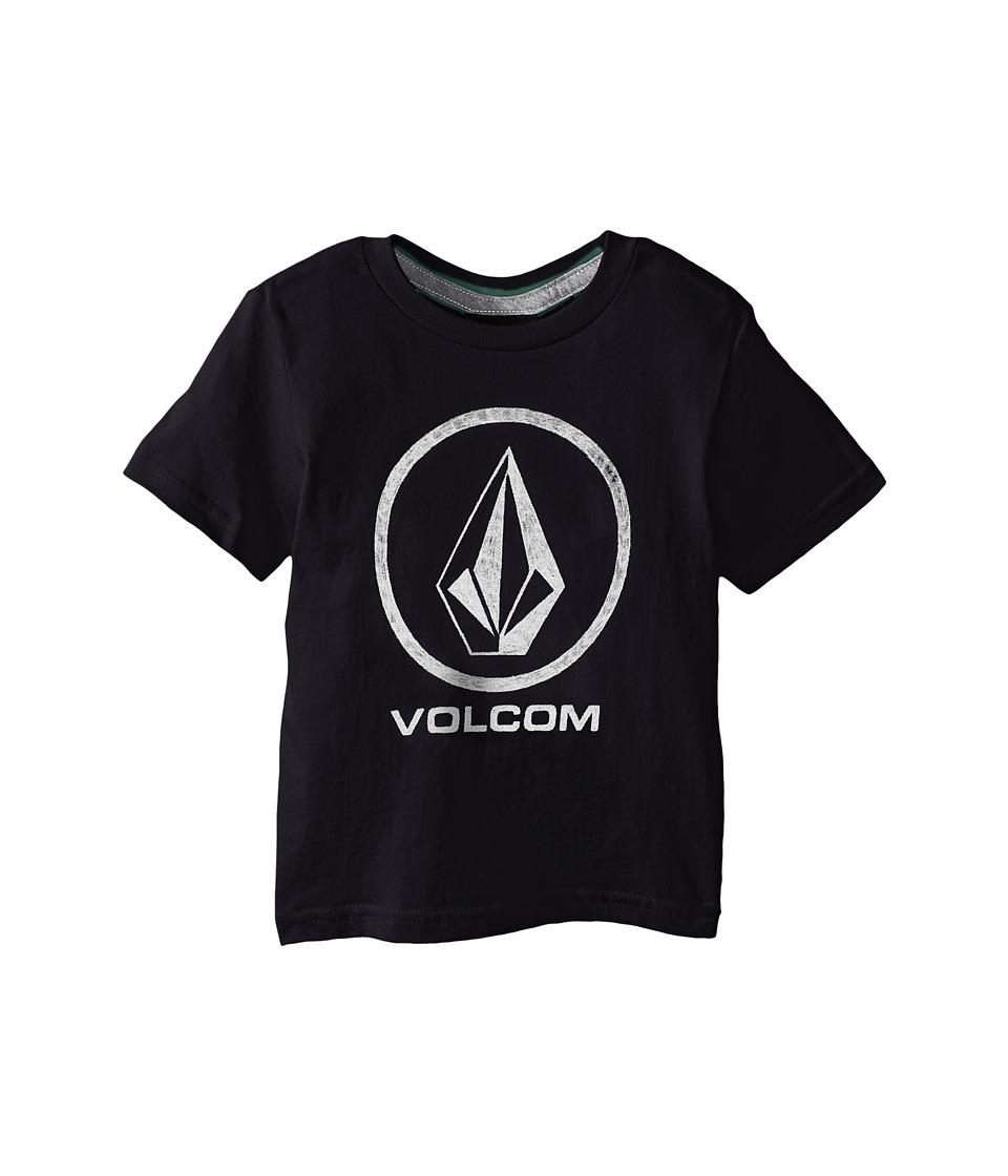 Volcom Kids Fade Stone Short Sleeve Shirt Toddler/Little Kids Black Boys T Shirt