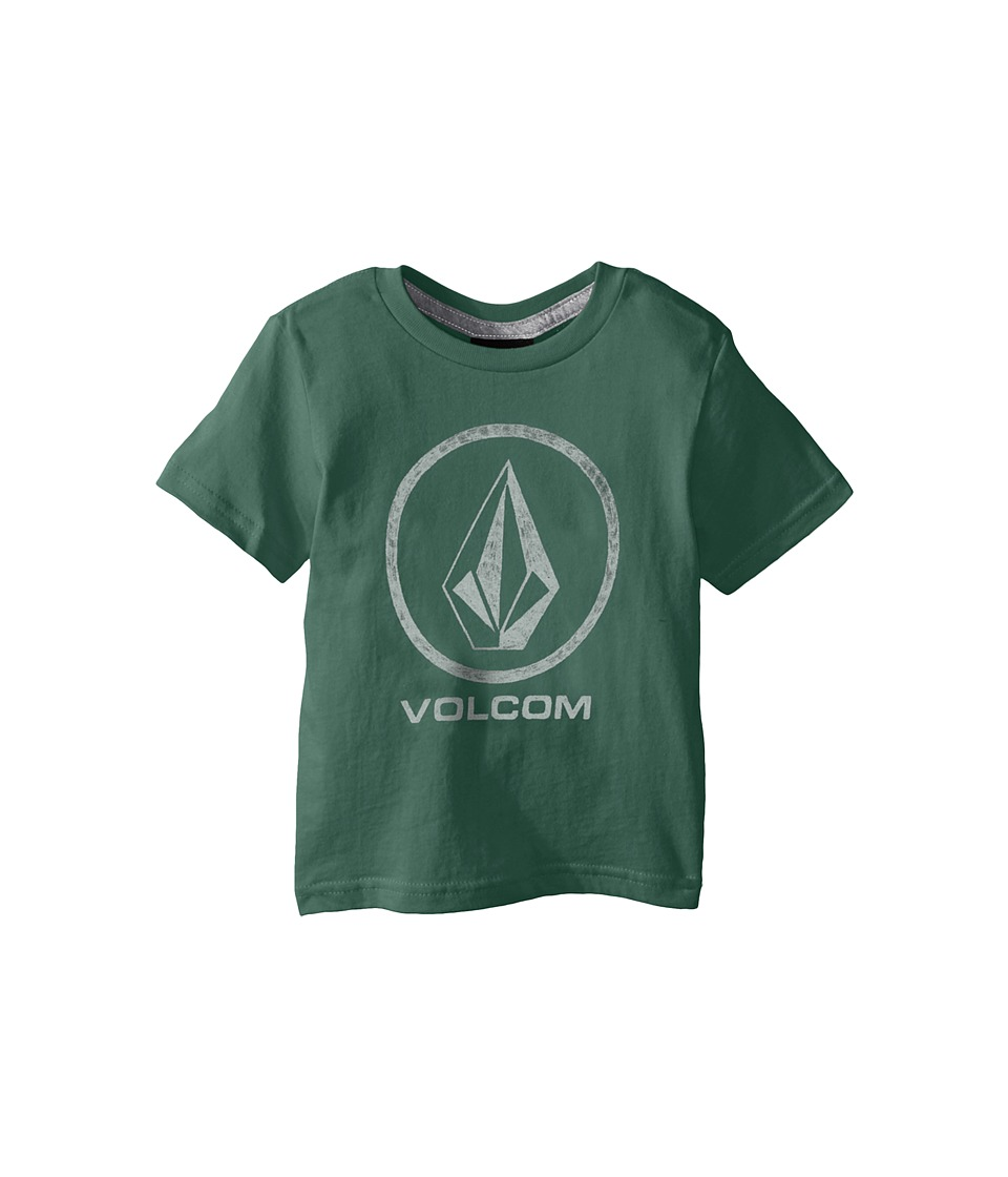 Volcom Kids Fade Stone Short Sleeve Shirt Toddler/Little Kids Forest Boys T Shirt