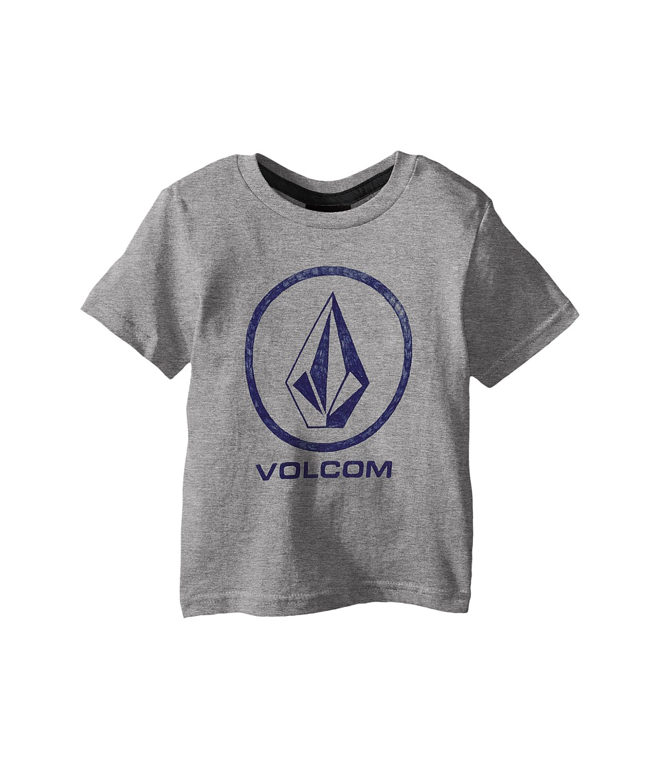 Volcom Kids - Fade Stone Short Sleeve Shirt (Toddler/Little Kids) (Heather Grey) Boy