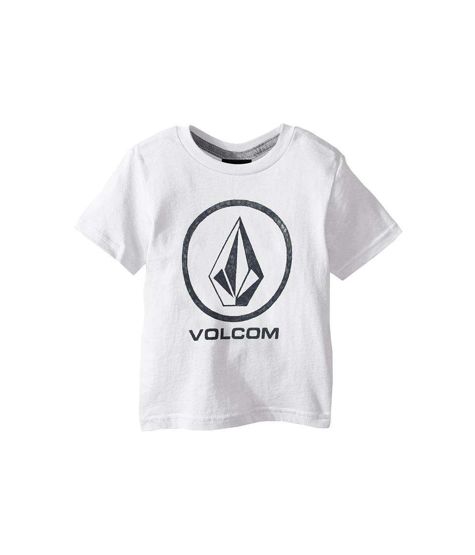 Volcom Kids Fade Stone Short Sleeve Shirt Toddler/Little Kids White Boys T Shirt
