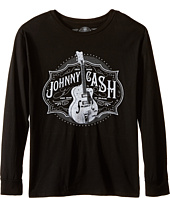 The Original Retro Brand Kids - Johnny Cash Long Sleeve Shirt (Big Kids)