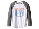 The Original Retro Brand Kids Cali 66 Long Sleeve Baseball Cali 66 Raglan (Big Kids)