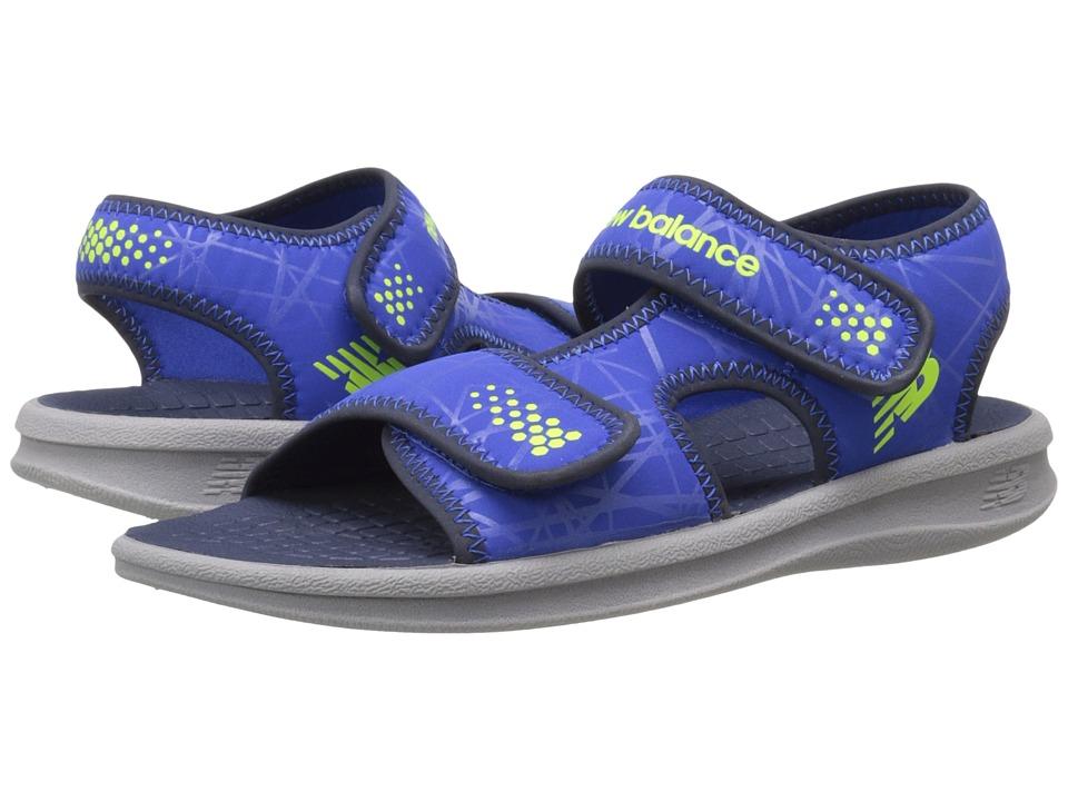 New Balance Kids Sport Sandal (Toddler/Little Kid/Big Kid) (Grey/Blue) Boys Shoes
