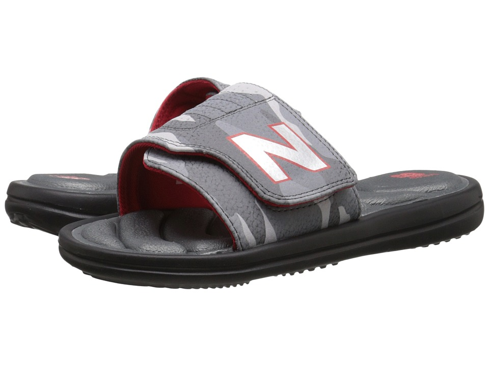 New Balance Kids - Classic WP Slide (Little Kid/Big Kid) (Black/Grey) Boys Shoes