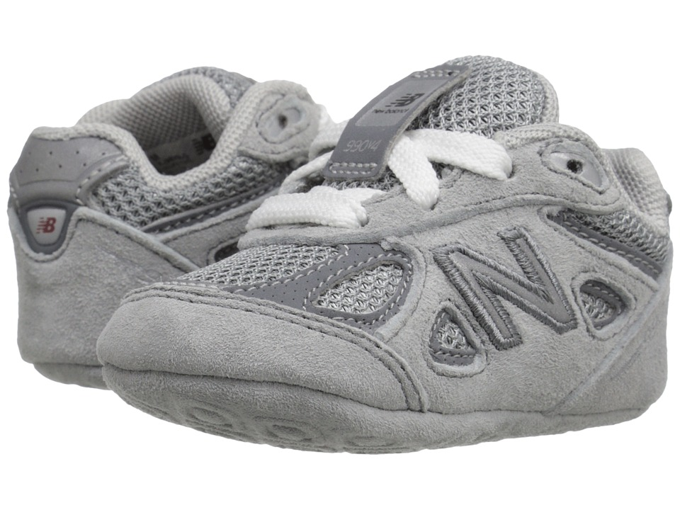 New Balance Kids 990v4 (Infant) (Grey/Grey) Boys Shoes
