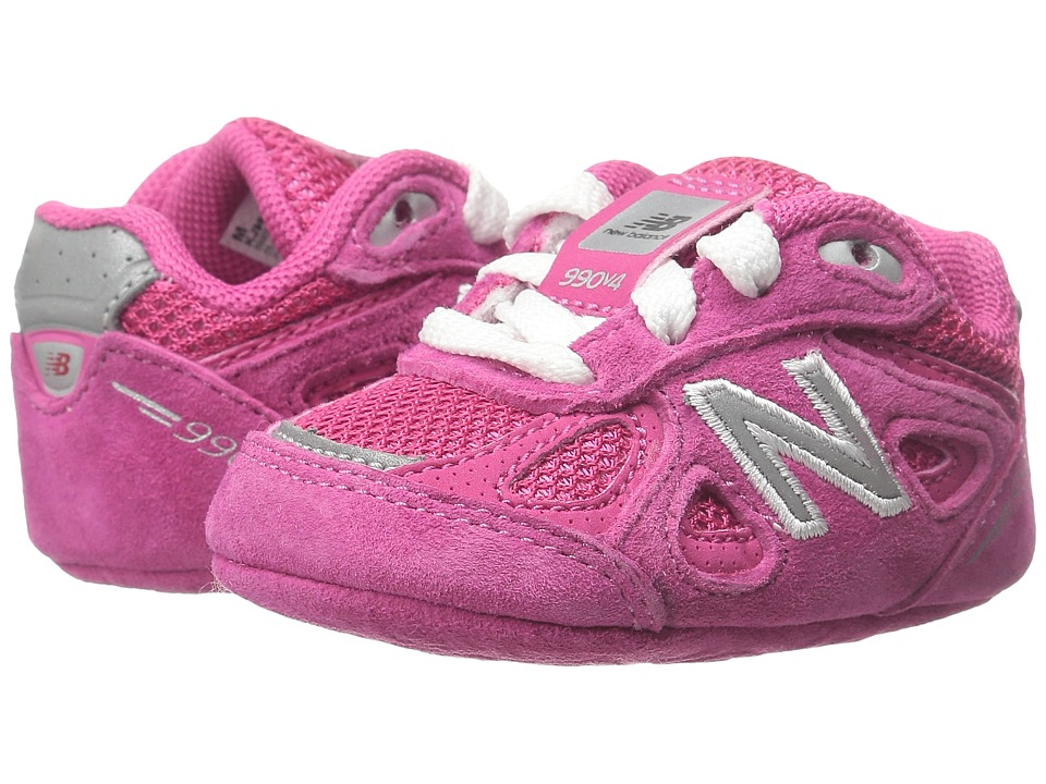 New Balance Kids 990v4 (Infant) (Pink/Pink) Girls Shoes
