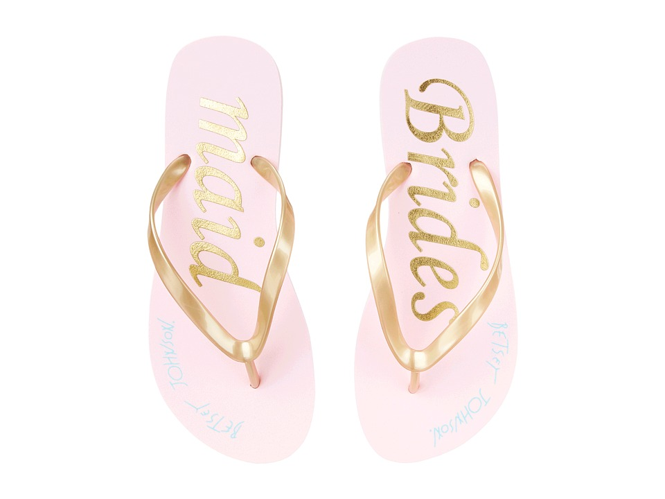 Blue by Betsey Johnson Amy Gold Bridesmaid Womens Sandals