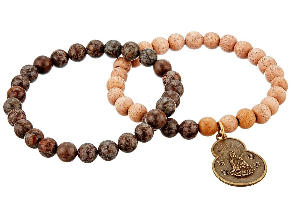 Dee Berkley Good Vibes Bracelet Brown Bracelet