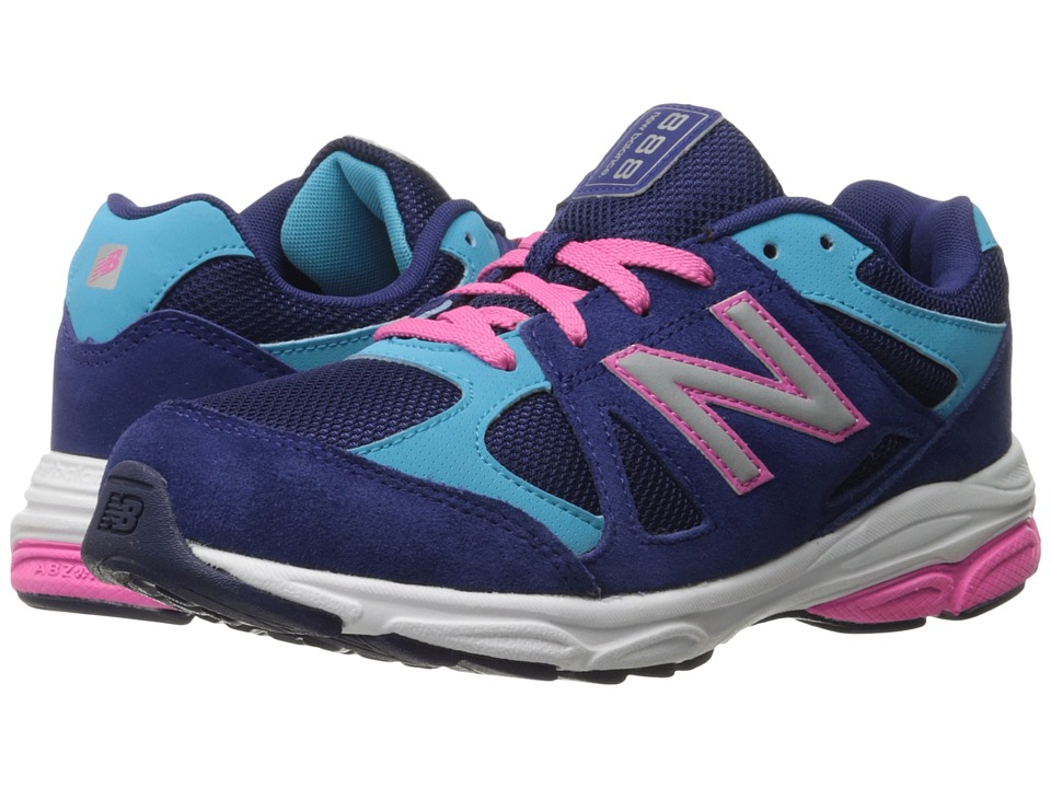 New Balance Kids 888 Big Kid Blue/Pink Girls Shoes
