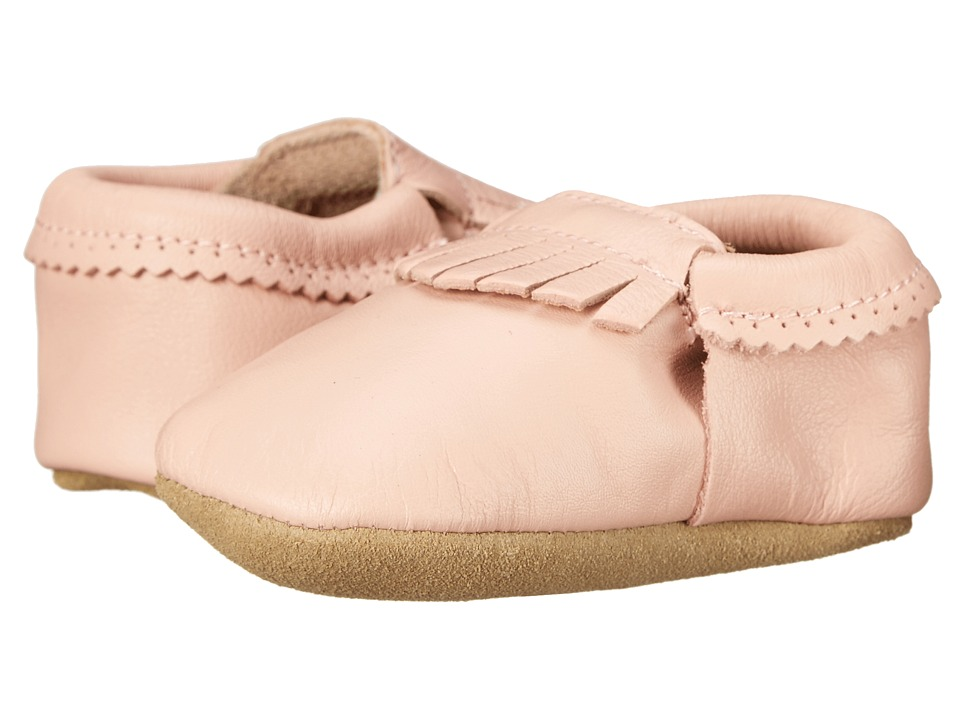 Hanna Andersson Baby Moc Infant/Toddler Peach Pink Girls Shoes