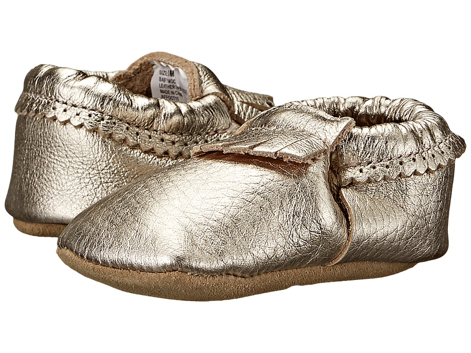 Hanna Andersson Baby Moc Infant/Toddler Light Gold Girls Shoes