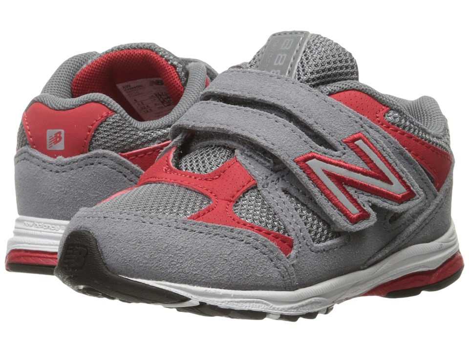 New Balance Kids - 888 (Infant/Toddler) (Grey/Red 2) Boys Shoes