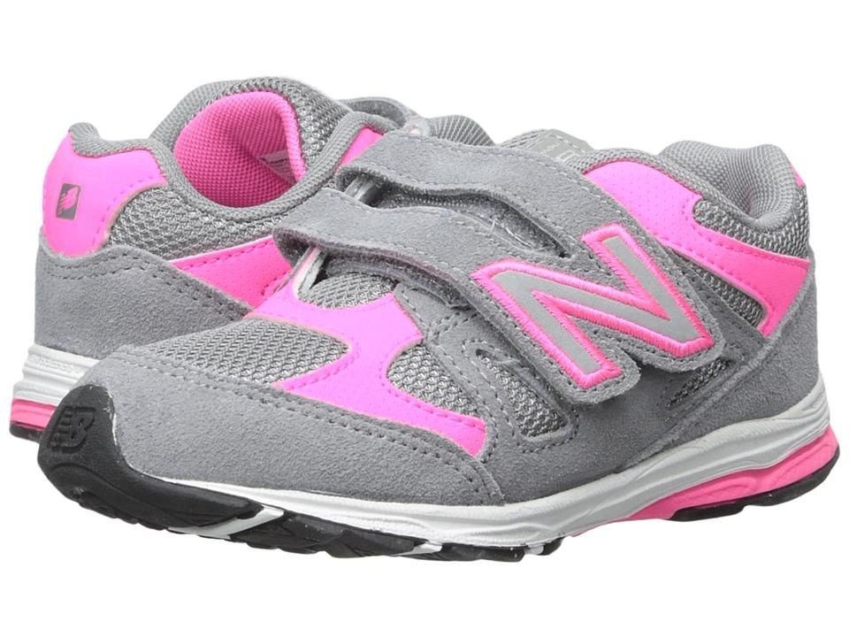 New Balance Kids - 888 (Infant/Toddler) (Grey/Pink 2) Girls Shoes