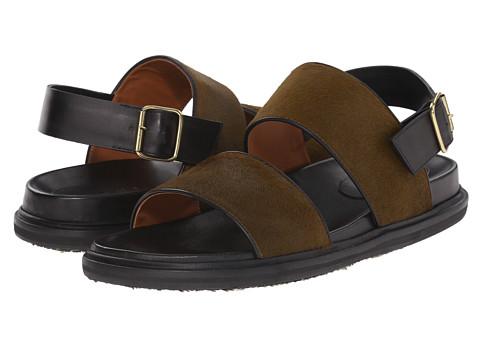 MARNI Hairy Calf Sandal