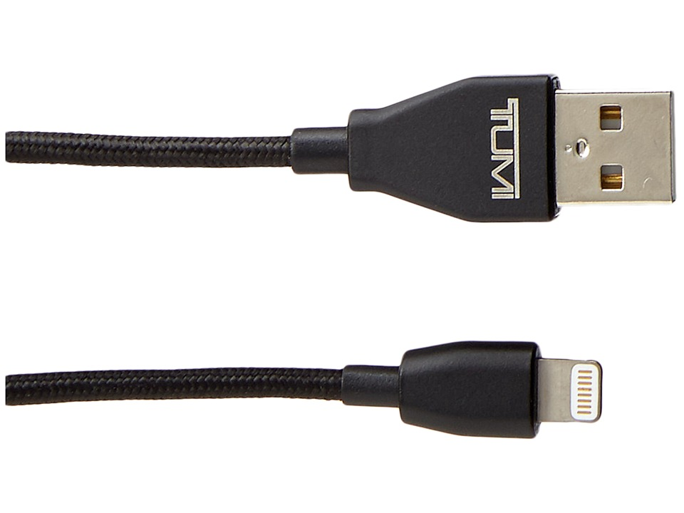Tumi - Lightning to USB Cable - 4ft. (Black Metal) Wallet