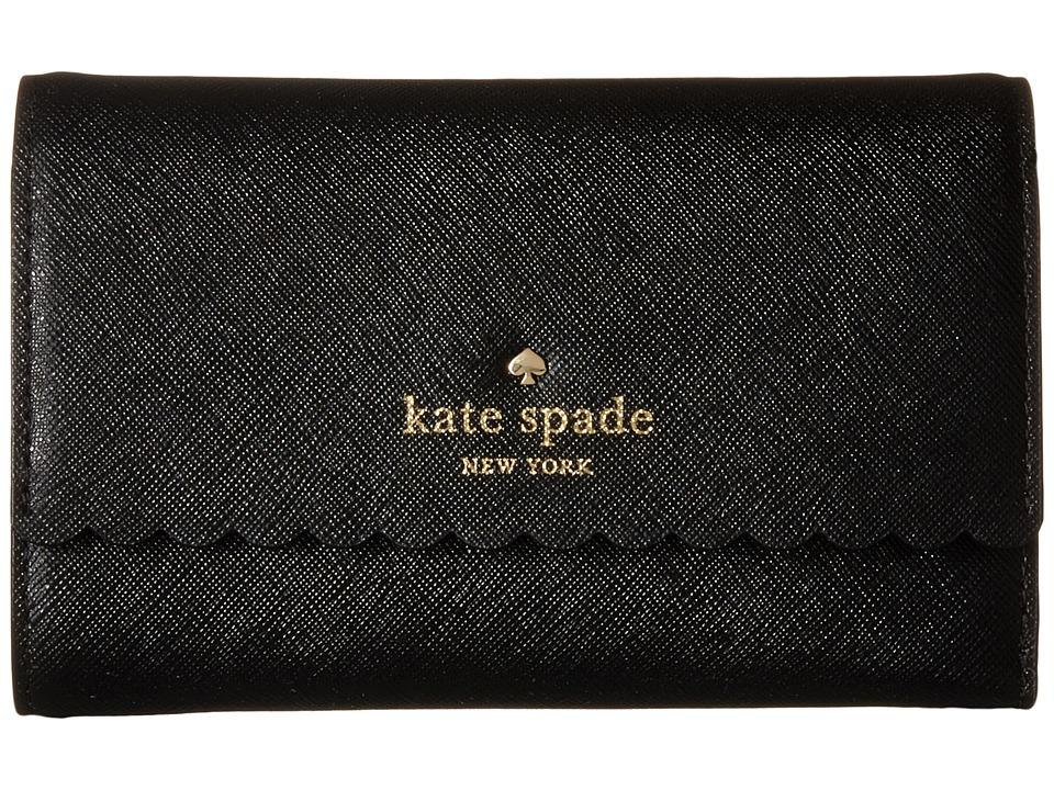 Kate Spade New York Cape Drive Kieran Black/Bright White Wallet Handbags