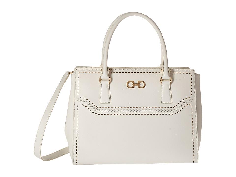 Salvatore Ferragamo - 21F825 Beky (Lait) Tote Handbags
