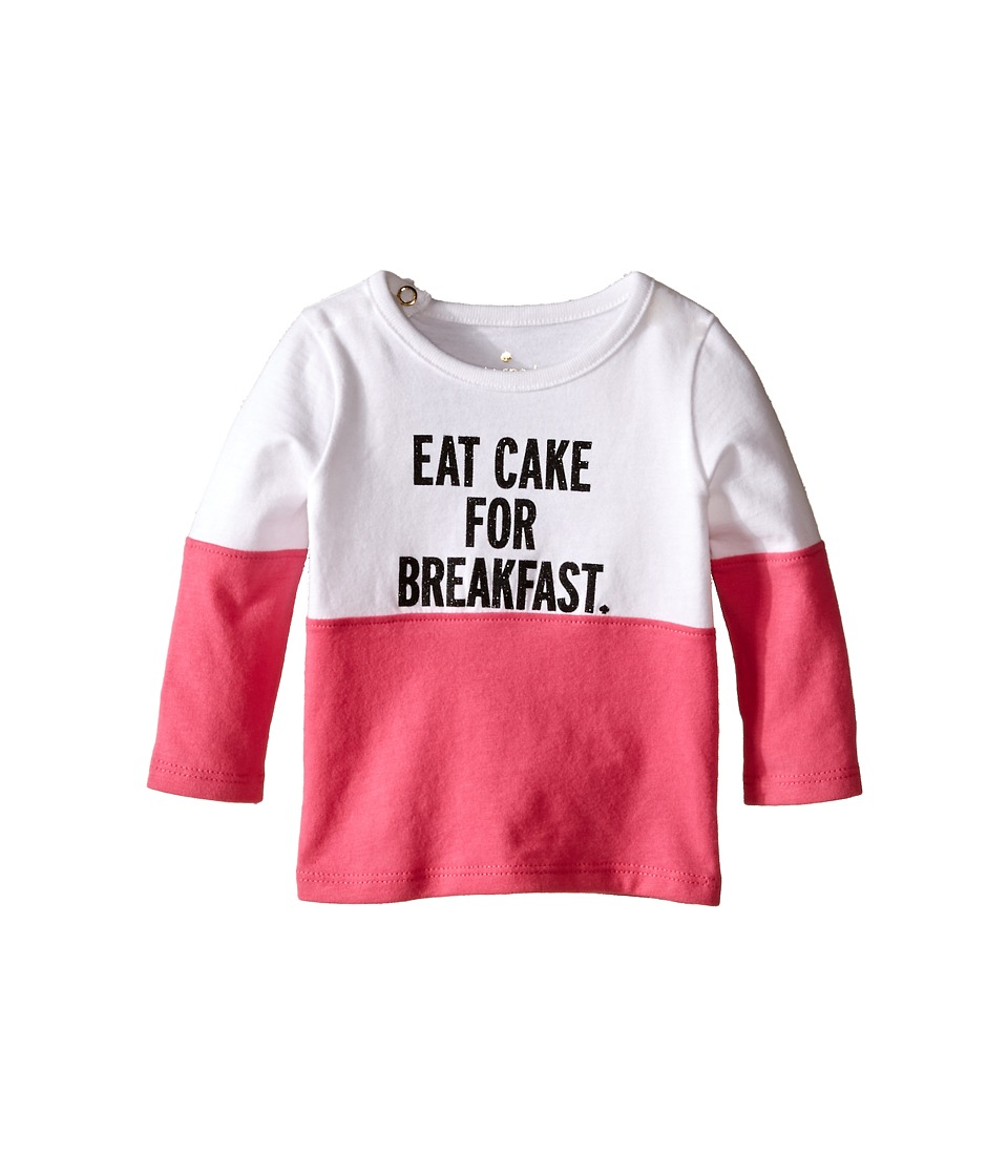 Kate Spade New York Kids Eat Cake For Breakfast Tee Infant Fresh White/Pink Swirl Girls T Shirt