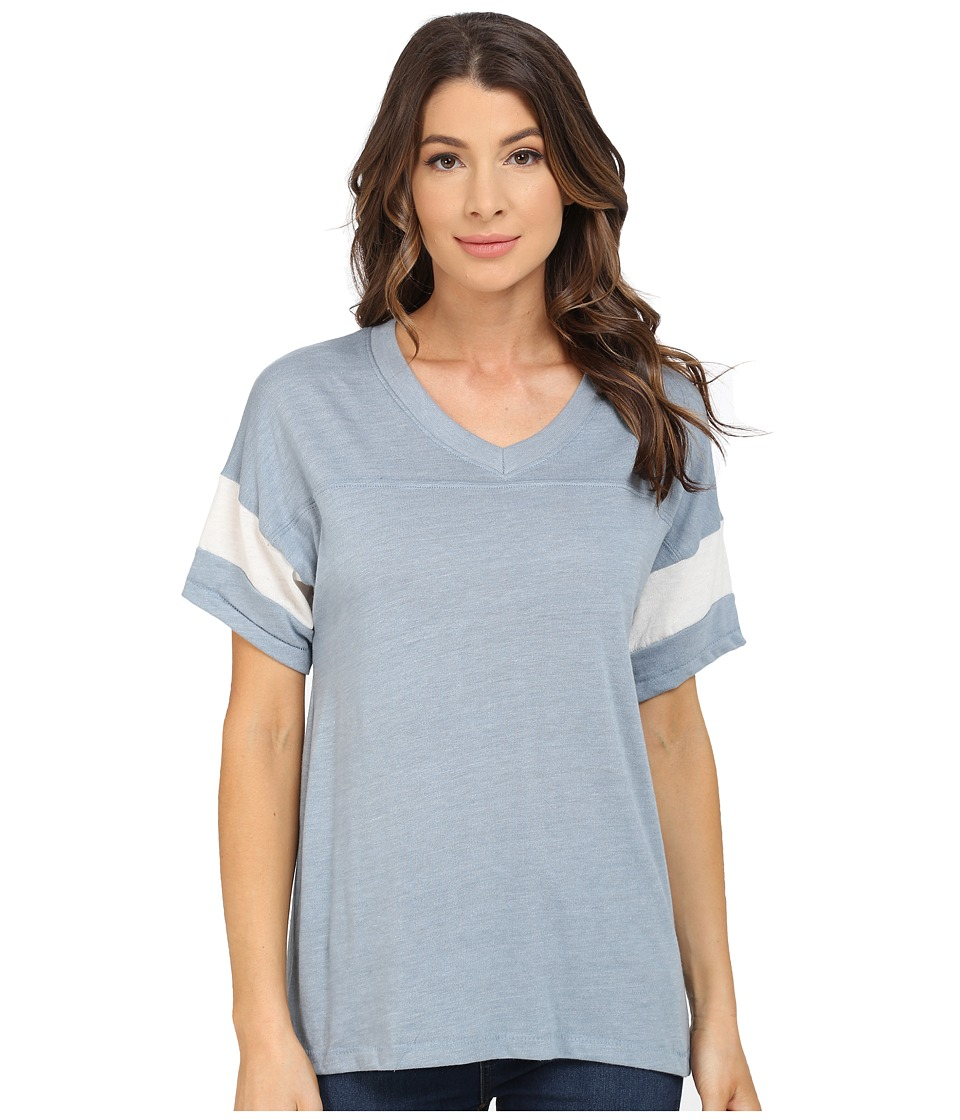 Alternative Powder Puff Tee Eco True Blue Fog/Eco Ivory Womens T Shirt