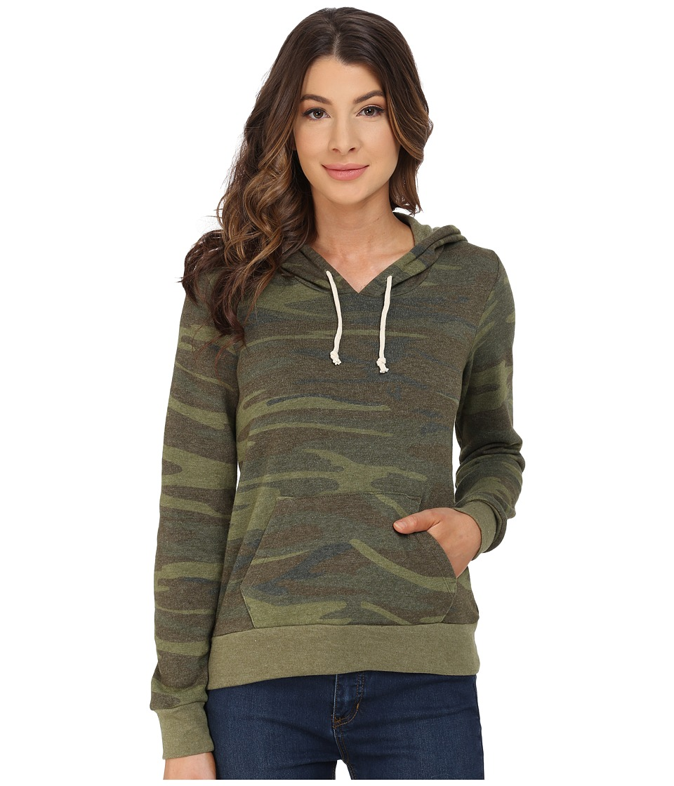 Alternative Athletics Printed Hoodie Camo Womens Sweatshirt