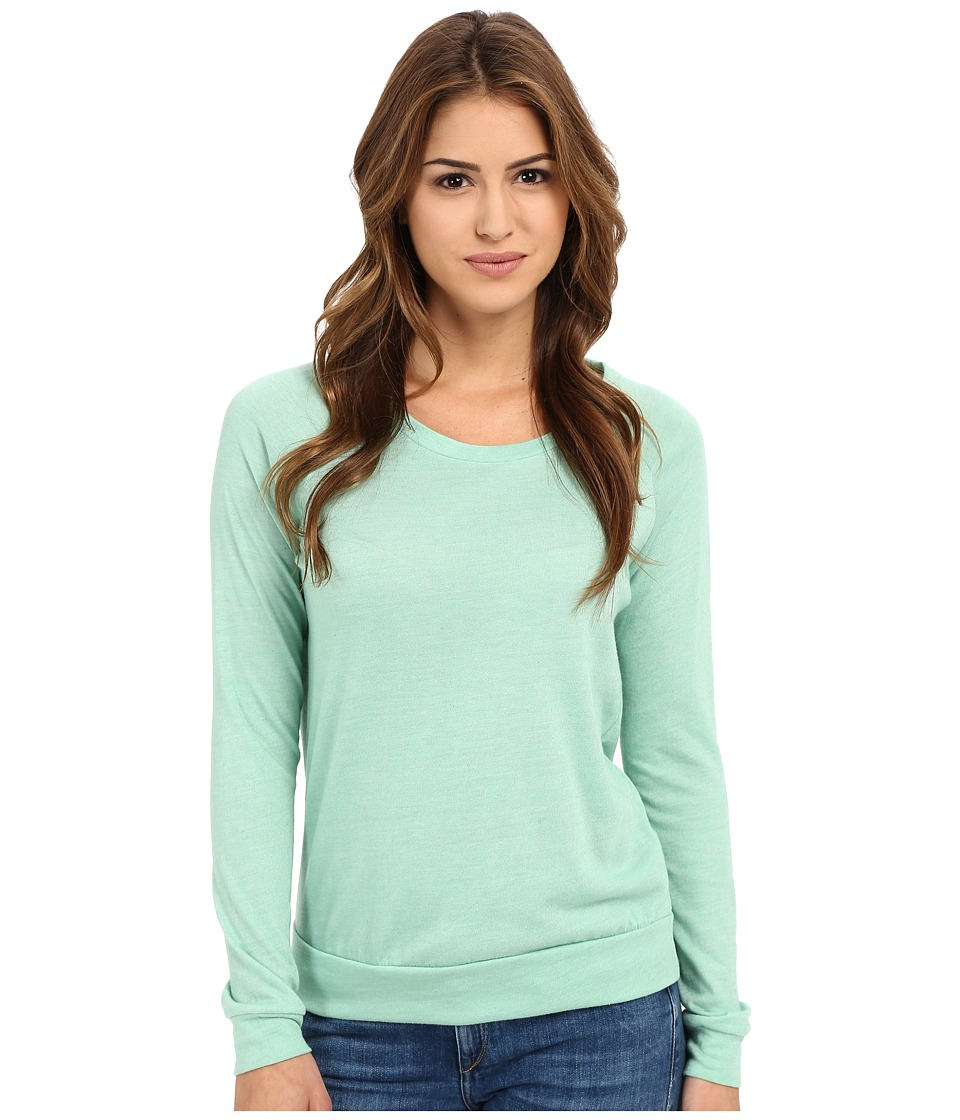 Alternative Eco Heather Slouchy Pullover Eco True Green Tint Womens Long Sleeve Pullover